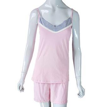 Pijama-Feminino-Tamanho-M--Shorts-e-Regata-com-Alcas-Glace-Pzama-40053-ShopCama