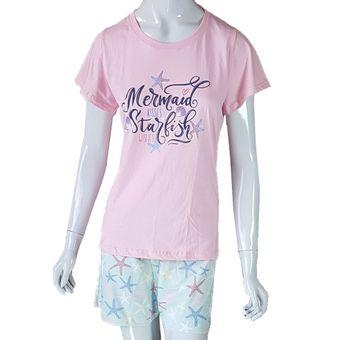 Pijama-Feminino-Tamanho-M-Shorts-e-Camiseta-Manga-Curta-Glace-Pzama-ShopCama