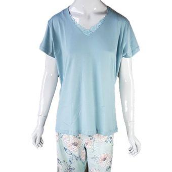 Pijama-Feminino-Tamanho-GG-Shorts-e-Camniseta-Manga-Curta-Pzama-50022-Shopcama