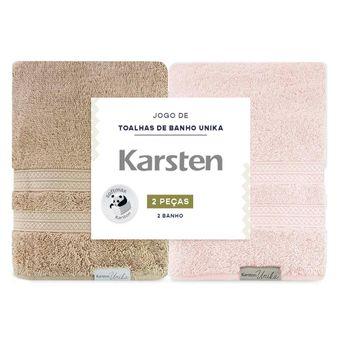 Kit-de-Toalhas-de-Banho-Karsten-Unika-Trigo-e-Rose-2-Pecas-ShopCama
