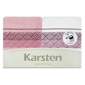 Jogo-de-Toalhas-de-Banho-Karsten-5-Pecas-Colin-Branco-e-Pink-ShopCama