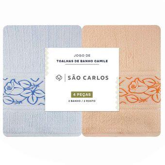 Jogo-Toalhas-de-Banho-Sao-Carlos-Camile-4-Pecas-Azul-e-Pessego