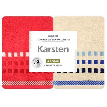 Jogo-de-Banho-Karsten-4-Pecas-Calera-Natural-e-Vermelho