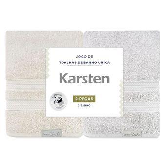 Kit-de-Toalha-de-Banho-Karsten-Unica-2-Pecas-Marrom-e-Cinza-ShopCama