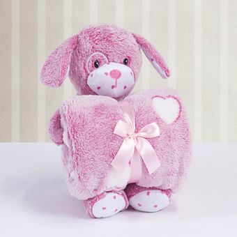 Kit-Manta-com-Bichinho-de-Pelucia-Cachorrinho-Pink-Bouton-ShopCama