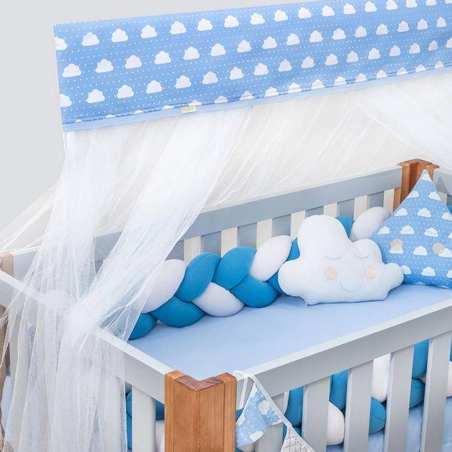 Kit-Berco-Tranca-para-Meninos-com-Mosquiteiro-Nuvenzinha-Azul-Premium-com-8-Pecas-Brubrelel-|-ShopCama