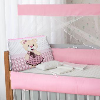 Kit-Berco-para-Meninas-Rosa-com-9-Pecas-Brubrelel-|-ShopCama