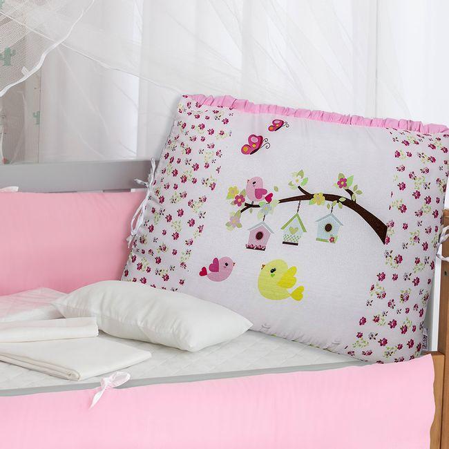 Kit-Berco-para-Meninas-Passaros-Rosa-com-9-Pecas-Brubrelel-|-ShopCama