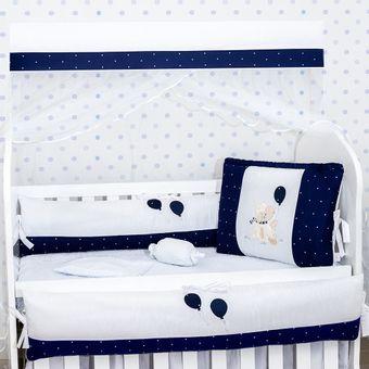 Kit-berco-para-Meninos-Lili-Azul-Marinho-9-Pecas-Brubrelel-|-ShopCama
