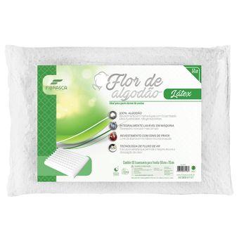 Travesseiro-de-Latex-Fibrasca-Flor-de-Algodao-|-ShopCama