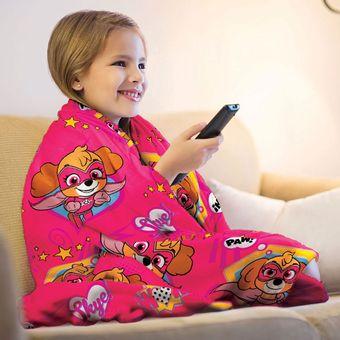 Manta-Infantil-para-Sofa-Fleece-Lepper-Patrulha-Canina-Menina-|-ShopCama
