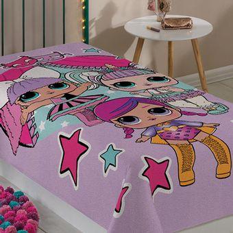 Manta-Infantil-para-Meninas-LOL-Fleece-Lepper-|-ShopCama