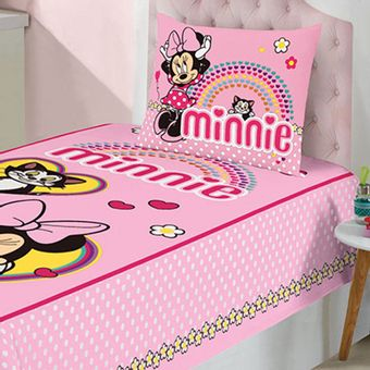 Jogo-de-Cama-Infantil-Minnie-3-Pecas-Lepper-|-ShopCama