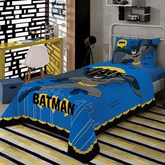 Jogo-de-Cama-Infantil-Batman-3-Pecas-Lepper-|-ShopCama