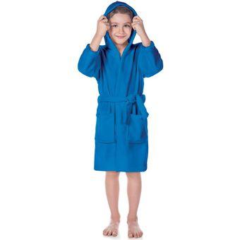 Roupao-Infantil-Fleece-Com-Capuz-Azul-Tamanho-M-Lepper-|-ShopCama