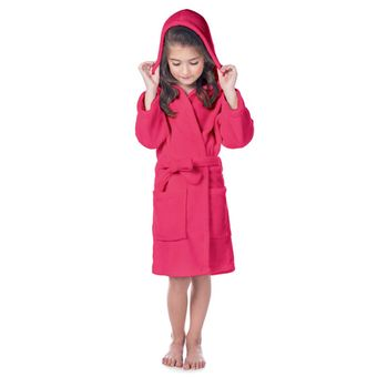 Roupao-Infantil-Fleece-com-Capuz-Rosa-Pink-Tamanho-M-Lepper-|-ShopCama