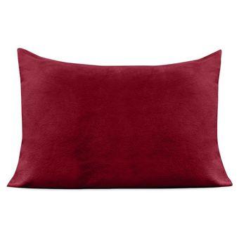 Fronha-Plush-Vermelho-Europa-|-ShopCama