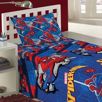 Jogo-de-Cama-Infantil-Spider-Man-3-Pecas-Lepper-|-ShopCama