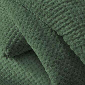 Manta-Queen-Size-Karsten-Ivy-Verde-Fleece- -ShopCama