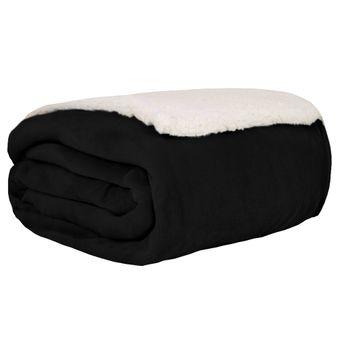 Cobertor-Casal-Dupla-Face-Sultan-Flannel-e-Sherpa-Pretp-|-ShopCama