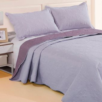 Colcha-King-Size-Dupla-Face-Sultan-Patchwork-Ultrassonic-3-Pecas-Lilas-|-ShopCama