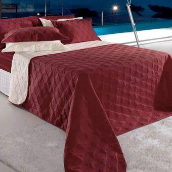 Colcha-King-Size-3-Pecas-Bordo-Essence-BBc-Textil- -ShopCama