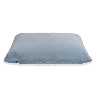 Fronha-Avulsa-em-Plush-Hedrons-Azul-Stone- -Shopcama