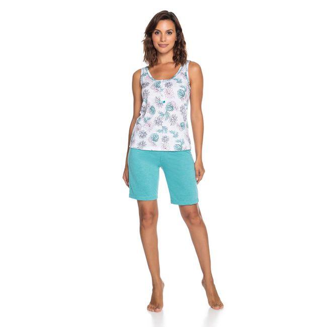 Pijama-Feminino-Shorts-e-Regata-Verde-Senilha-Ref-6275--P-
