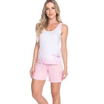 Pijama-Feminino-Shorts-e-Regata-Rosa-Malha-Senilha-Ref-6281--P-