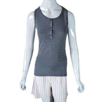 Pijama-Feminino-Regata-e-Shorts-Mescla-Preto-G-Pzama-Ref-40049