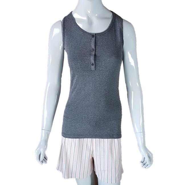 Pijama-Feminino-Regata-e-Shorts-Mescla-Preto-GG-Pzama-Ref-40049