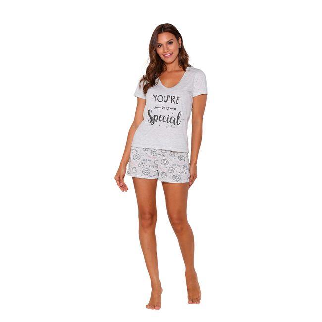 Pijama-Feminino-Short-Doll-Mescla-Tam--P----Senilha