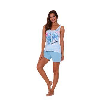 Pijama-Feminino-Short-Doll-Liganete-Microfibra-Azul-Tam--M----Senilha