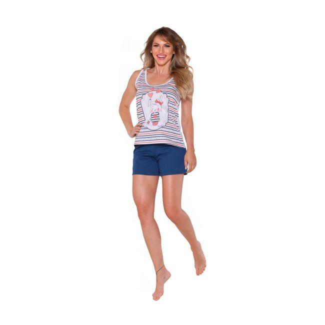 Pijama-Feminino-Short-Doll-Marinho-Tam--P----Senilha