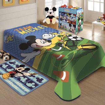 Cobertor-Infantil-Raschel-Mickey-Futebol---Jolitex