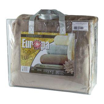 Cobertor-King-Size-Europa-Toque-de-Luxo-240-x-250cm---Marrom-Claro