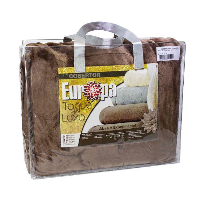 Cobertor-King-Size-Europa-Toque-de-Luxo-240-x-250cm---Marrom