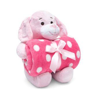 Kit-Manta-com-Bichinho-de-Pelucia-Dog-Pink-Bouton-Baby