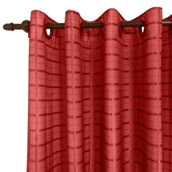 Cortina-para-Varao-280-x-230cm-Voil-Trabalhado-com-Forro-Vermelho-Provence---Izaltex