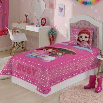 Colcha-Infantil-Lepper-Rainbow-Ruby-Matelasse