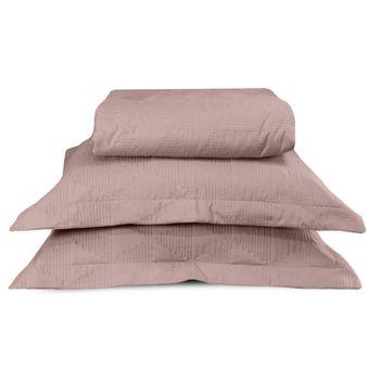 Colcha-Cobreleito-Casal-BBC-Textil-Essence-3-Pecas---Rose