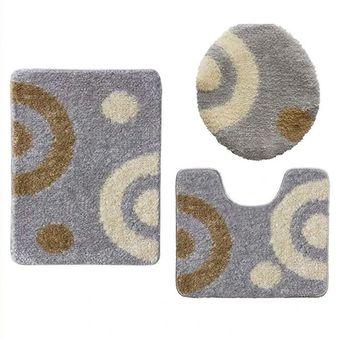Jogo-de-Tapetes-para-Banheiro-3-Pecas-Jolitex-Urban-Lunar-Cinza-Colorido