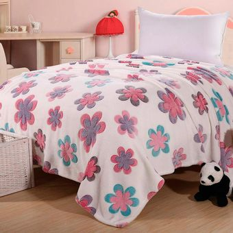 Cobertor-Infantil-Sultan-Microfibra-Flores-250-g-m²