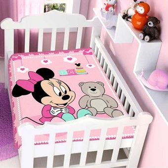 Cobertor-Bebe-Raschel-Minnie-Surpresa-Disney-Rosa