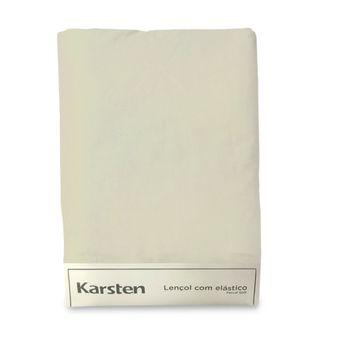 Lencol-Avulso-King-Size-Karsten-180-Fios-Liss-Bege-193x203x40cm