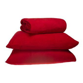 Jogo-de-Cama-Queen-Size-em-Plush-3-Pecas-Europa-Vermelho