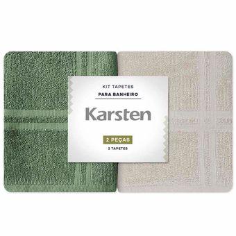 Kit-Toalhas-para-Pes-2-Pecas-Karsten-Metropole-Verde-Bege