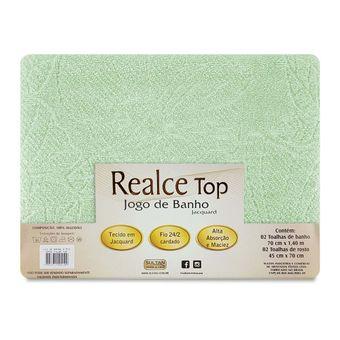 Jogo-de-Toalhas-de-Banho-Sultan-4-Pecas-Realce-Top-Verde