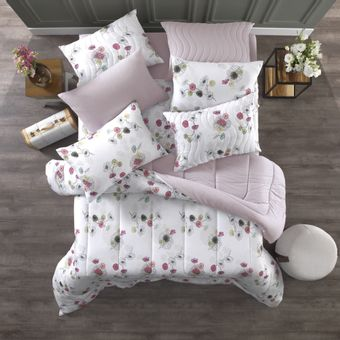 Edredom-Solteiro-Altenburg-Malha-In-Cotton-Flowertopia-|-Shopcama