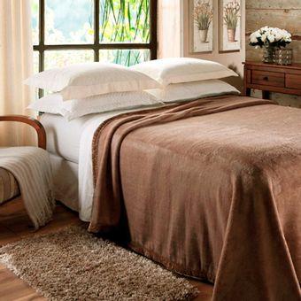 Cobertor-Casal-Jolitex-Raschel--180x220cm--620g-m²-Marrom-|-Shopcama
